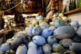 Blue Plastic Buoys.