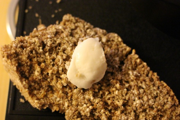 Home-made buffalo butter on soda bread